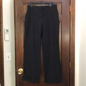 New York & Company Black Cuffed Dress Slacks Sz 12